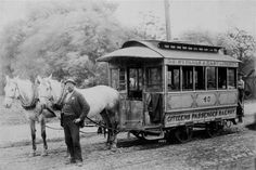 No date on this Horse drawn trolly in Pittsburgh PA.