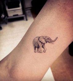 Elephant tattoo by Dr Woo