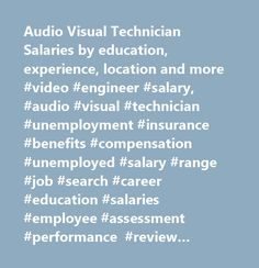 Audio Visual Technician Salaries by education, experience, location and more #video #engineer #salary, #audio #visual #technician #unemployment #insurance #benefits #compensation #unemployed #salary #range #job #search #career #education #salaries #employee #assessment #performance #review #bonus #negotiate #wage #change #advice #california #new #york #jersey #texas #illinois #florida…