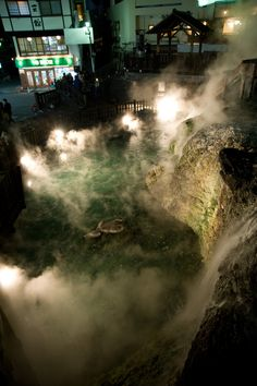 Kusatsu Onsen is considered as one of Japan's top onsen destinations with its sulfurous waters.   http://holidaybays.com/hot-springs-of-japan-7-hot-springs-you-will-surely-love/
