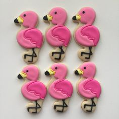 Your place to buy and sell all things handmade Flamingo Birthday, Flamingo Party, Pink Parties, Birthday Parties, First Birthday Cookies, Pineapple Cookies, Summer Cookies, Baby Shower, Cookie Decorating