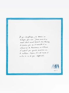 mouchoir message cardigan blanc | agnès b. Messages, Office Supplies, White Cardigan, Facial Tissue, Accessories, Rome, Text Posts, Text Conversations