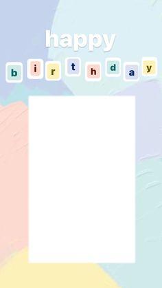 Happy Birthday Template, Happy Birthday Frame, Birthday Posts, Birthday Frames, Birthday Pictures, Birthday Quotes, Instagram Emoji, Free Instagram, Instagram And Snapchat