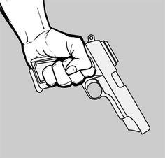 hand holding gun drawing - Google Search