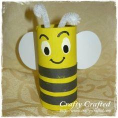 Toilet paper roll bee