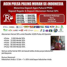 Mau Jadi Reseller Pulsa termurah sa Indonesia..?