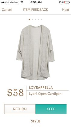 Lyoni open cardigan I think this cami looks like a perfect transition piece for spring. I would LOVE to have it in a petite!