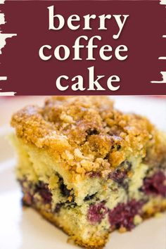 Looking for something to bake for breakfast?  Why not this berry coffee cake recipe with raspberries, blackberries, and blueberries?  Topped with an easy brown sugar and cinnamon topping, everyone will love this breakfast recipe. Breakfast Cake, Breakfast Recipes, Breakfast Pastries, Crack Cake, Cake Recipes, Dessert Recipes, Blueberry Topping, Streusel Topping, Baking Flour