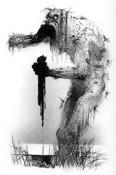 Grendel, from Beowulf, by Charles Keeping | Tumblr