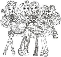 Free Printable Monster High Coloring Pages for Kids | Humor that I ...
