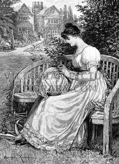 Young Woman making Bobbin Lace