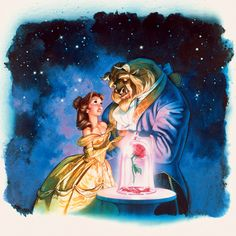 Drew Struzan, Beauty and the Beast | my all-time favorite image associated with this movie