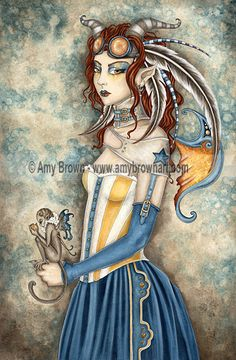 """""""Cordellia"""" PRINTS-OPEN EDITION - Carnival and Steampunk - Amy Brown Fairy Art - The Official Gallery"""