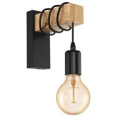 Eglo Townshend Wandleuchte W, Schwarz, L x B x H: 19 x x cm) EgloEglo Eglo Townshend wall lamp W, black, L x W x H: 19 x x cm) EgloEglo Wooden Chandelier, Wooden Lamp, Wooden Wall Lights, Luminaire Mural, Lampe Decoration, Street Lamp, Desk Lamp, Wall Lamps, Ceiling Lamps