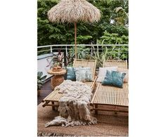 Bamboehouten ligstoel Mandisa | WestwingNow Outdoor Furniture, Outdoor Decor, Bed, Palm, Home Decor, Products, Shopping, Chaise Lounges, House Decorations