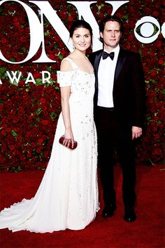 Phillipa Soo and Steven Pasquale attend the 70th Annual Tony Awards at The Beacon Theatre on June 12, 2016 in New York City.