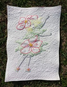 March - November 2016: Floral fairies embroidery BOM posted the 3rd Monday of each month. An applique version is posted the 4th Monday.  Each is available for 1 week only