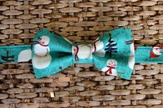 Mens Bow Tie  Winter Christmas Snowmen with Pine by becauseimme (Accessories, Suit & Tie Accessories, Bowties, team fest, preteen ties, pretied bow tie, snowmen snowman, snow green, pine trees, man men mans mens, teen, bowtie bowties, bow tie ties, winter snow, christmas)