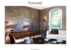 One of my #Fromental faves:: our popular prunus scenic wallpaper in bitumen colourway