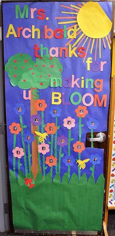 Adorable door decoration ideas for Teacher Appreciation Week from Children's Learning Activities.