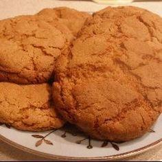 Ginger Biscuits (1/3 bicarb, -syrup, +honey)