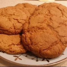 Ginger Cookies. (6oz self raising flour, 4 oz soft brown sugar, 1 level tsp bicarbonate of soda, 2 oz butter, 1 heaped tsp ground ginger, 1 rounded tsp golden syrup, 1 egg)