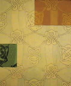 Textile design by Archibald Knox, produced in the 1900s.