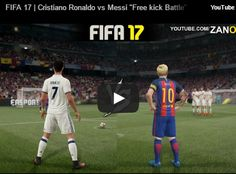 "FIFA 17 | Cristiano Ronaldo vs Messi ""Free kick Battle"" HD 1080p"