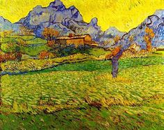 """A Meadow in the Mountains"" (1889) Vincent van Gogh <3"