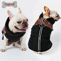 Doglemi Reflective Zipper Dog Jacket Winter Pet Clothes Water Resistant Warm Apparel for Large Dogs (S, Leopard) * Click image for more details. (This is an affiliate link) #Dogs