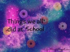 Hayley Louisa Elliott: School (and the things we all did)