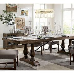 Lorraine Extending Dining Table ($12) ❤ liked on Polyvore featuring home, furniture, tables, dining tables, expandable table, butterfly leaf dining table, butterfly leaf kitchen table, extendable dining table and butterfly leaf table