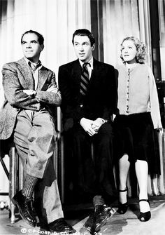 Director Frank Capra and stars James Stewart and Jean Arthur in a promotional picture for Mr. Smith Goes to Washington (1939)