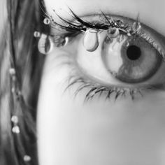 35 Emotional Eye Pictures | Cuded   Sad eye with tears