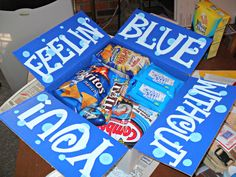 Feelin' Blue Without You! Everything in the package in blue :)
