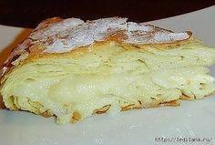 Фытыр Это египетская сладость, то ли пирог, то ли пирожное, но скажу одно - это безумно вкусно! Ингредиенты: Молоко 3 ст. Дрожжи сухие быстродействующие 0,5 ч.л. Яйцо куриное 2 шт. Мука пшеничная 3 ст. Масло сливочное 200 г Соль 1 щеп. Сахар 1 ст. Крахмал картофельный 3 ст.л. Ванильный сахар по вкусу Сахарная пудра по вкусу Приготовление: В 1 стакане теплого молока растворяем дрожжи, добавляем одно яйцо, соль, муку и замешиваем мягкое и эластичное тесто. Тесто делим на две равные части,...