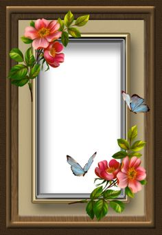 playful butterflies frame by collect-and-creat on DeviantArt Flower Phone Wallpaper, Rose Wallpaper, Butterfly Frame, Flower Frame, Frame Background, Paper Background, Xmas Frames, Picture Borders, Foto Frame