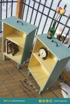 ¡Recicla y Reutiliza! Son dos cajones solo se les agregaron patas y repizas una idea muy fácil y barata perfecto para decoración. #dulcelagarda #diseñodeinteriores #ensenada