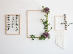 Anna likes to bring nature into the home. Get inspiration for decorating frames with both eucalyptus and faux flowers in the video. Frame Wall Decor, Diy Frame, Faux Flowers, Diy Flowers, Jar Labels, Flower Frame, Frame With Flowers, Diy Interior, Cool Walls