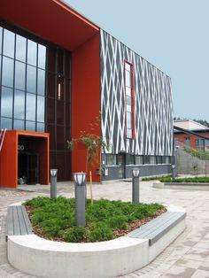 Kangasala High School, Finland 2012. Architect: Tilatakomo Oy, prefabrication: BM Haapavesi Oy.