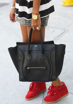 Celine bag, Isabel Marant sneaks.