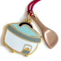 Rice Cooker Charm Pendant - I need this.  The only time my rice cooker is empty is when I'm washing it.