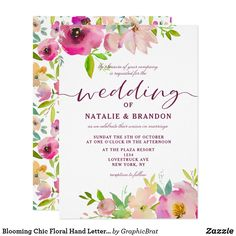 Shop White Marble & Watercolor Flowers Bridal Shower Invitation created by WowWed. Wedding Invitation Video, Summer Wedding Invitations, Bridal Shower Invitations, Retirement Invitations, Invites, Burlap Bridal Showers, Bridal Shower Flowers, Spring Wedding Colors, Watercolor Wedding Invitations