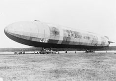 GERMAN NAVAL AIRSHIP L25 (Q 58457)   German naval airship L25. Completed Potsdam; commissioned on 14 November 1915. Capacity 1 126 700 cubic feet. Length 536.4 feet; diameter 61.35 feet. Four 240 hp maybach engines. Speed 61 mph. Ceiling 12 800 feet. Old LZ88 reconstructed, renamed L25 and recommissioned 19 January 1917. Broken up at Potsdam, Germany, 15 September 1917.