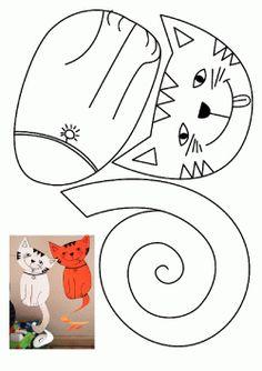 Kedi Kalıbı. Cat printables. Molde del gato. кот.