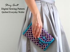 Women quilted long wallet digital sewing pattern, accordion wallet, accordion purse, tutorial available in my Etsy shop now