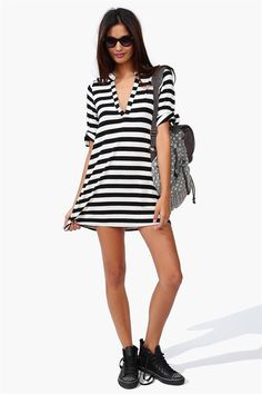 Goal Saver Dress in Black/White