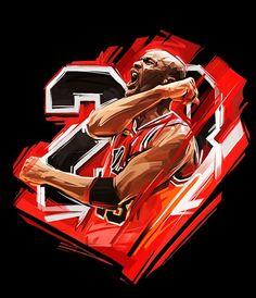 Michael Jordan  illustrated_by_Russian_Artist_Viktor_Miller_Gausa_2015_07: