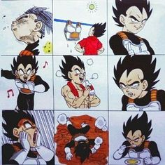 The many faces of Vegeta
