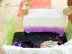 How to Ombre Dip-Dye a Duvet Cover - on HGTV